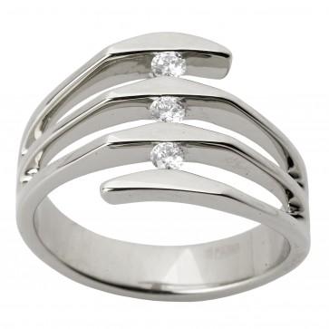 Каблучка з декількома діамантами 941-1265