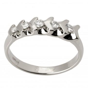Каблучка з декількома діамантами 941-1437