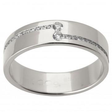 Обручальное кольцо с несколькими бриллиантами 941-1505