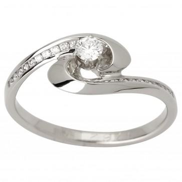 Каблучка з декількома діамантами 941-1571