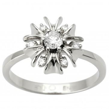 Каблучка з декількома діамантами 941-1604