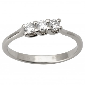 Каблучка з декількома діамантами 941-1666