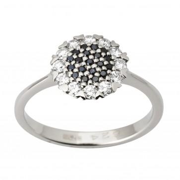 Каблучка з декількома діамантами 941-1712