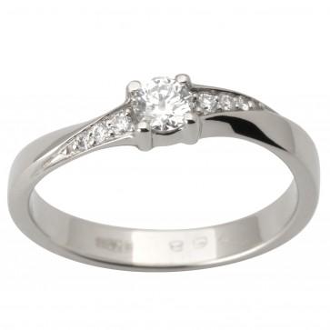 Каблучка з декількома діамантами 941-1715