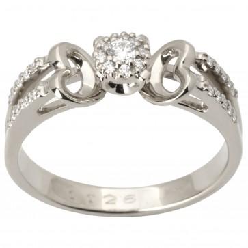 Каблучка з декількома діамантами 941-1716