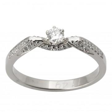 Каблучка з декількома діамантами 941-1743