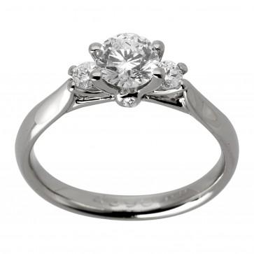 Каблучка з декількома діамантами 941-1752
