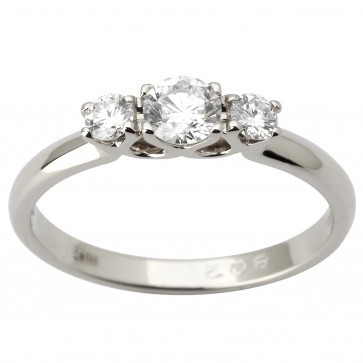 Каблучка з декількома діамантами 941-1818