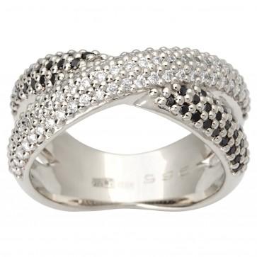 Каблучка з декількома діамантами 941-1829