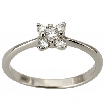 Кольцо с несколькими бриллиантами 941-1875
