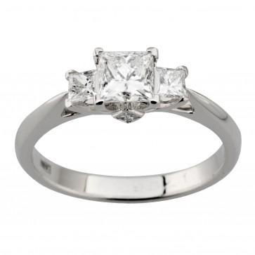Каблучка з декількома діамантами 941-2012
