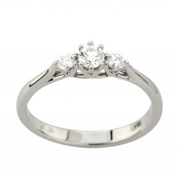Каблучка з декількома діамантами 941-3039
