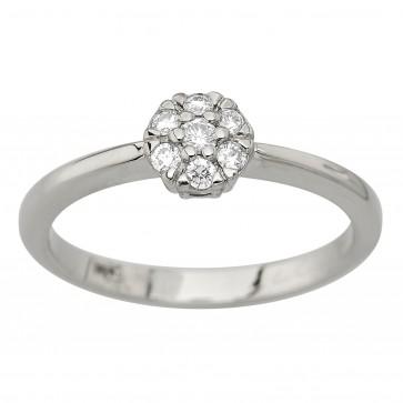 Каблучка з декількома діамантами 941-4054