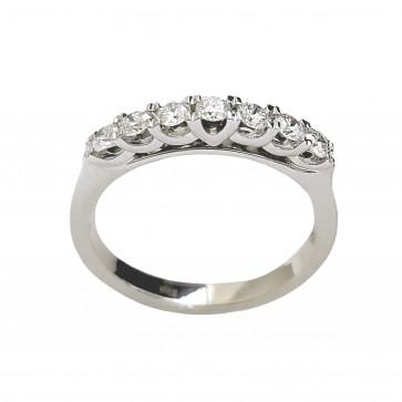 Каблучка з декількома діамантами 941-4145