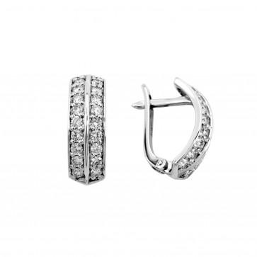 Сережки з декількома діамантами 942-0237