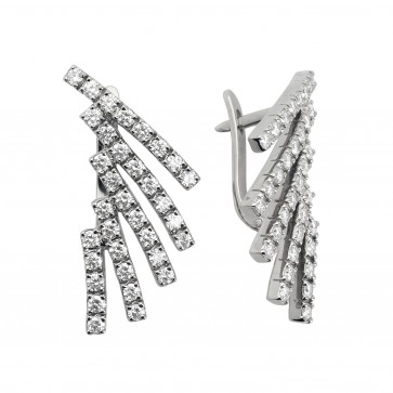 Сережки з декількома діамантами 942-0354