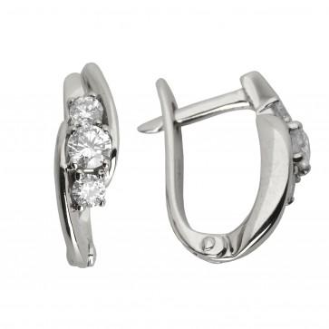 Сережки з декількома діамантами 942-0527