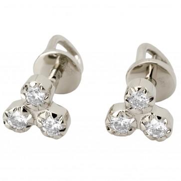 Сережки з декількома діамантами 942-0605