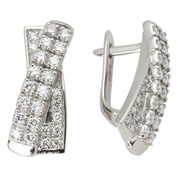 Сережки з декількома діамантами 942-0724