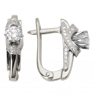 Сережки з декількома діамантами 942-0779