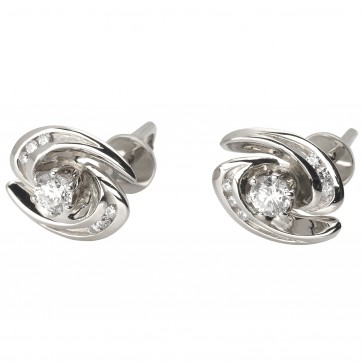 Сережки з декількома діамантами 942-0825