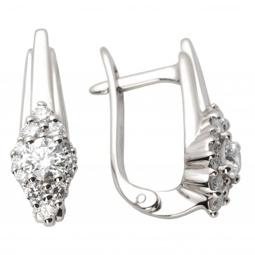 Сережки з декількома діамантами 942-0905