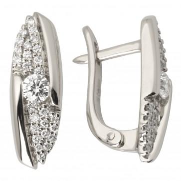 Сережки з декількома діамантами 942-0944