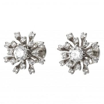 Серьги с несколькими бриллиантами 942-1086