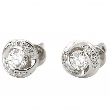 Сережки з декількома діамантами 942-1117