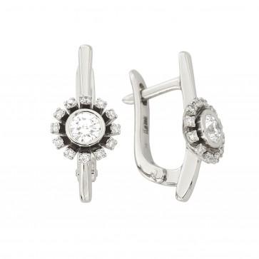 Сережки з декількома діамантами 942-1356