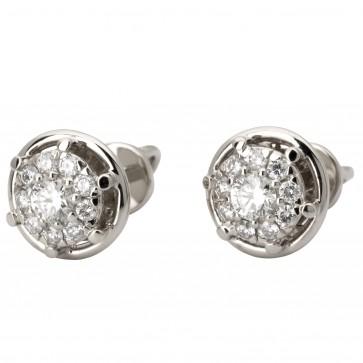 Сережки з декількома діамантами 942-2005