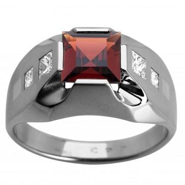 Перстень з діамантами та кольоровим камінням 981-1004