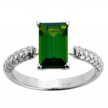 Каблучка з діамантами та кольоровим камінням 981-1282