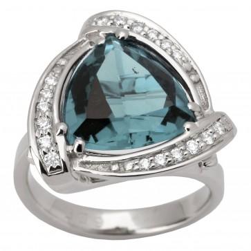 Каблучка з діамантами та кольоровим камінням 981-1316