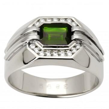 Перстень з діамантами та кольоровим камінням 981-1345