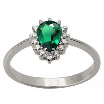 Каблучка з діамантами та кольоровим камінням 981-1368