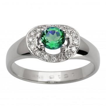 Каблучка з діамантами та кольоровим камінням 981-1431