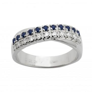 Каблучка з діамантами та кольоровим камінням 981-1434