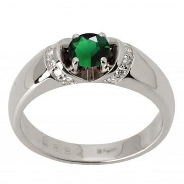 Каблучка з діамантами та кольоровим камінням 981-1475