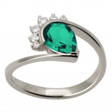 Каблучка з діамантами та кольоровим камінням 981-1507