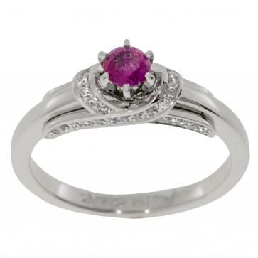 Каблучка з діамантами та кольоровим камінням 981-1509