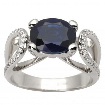 Каблучка з діамантами та кольоровим камінням 981-1579