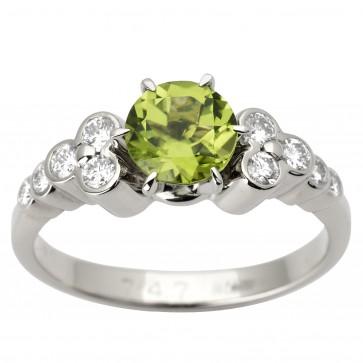 Каблучка з діамантами та кольоровим камінням 981-1594