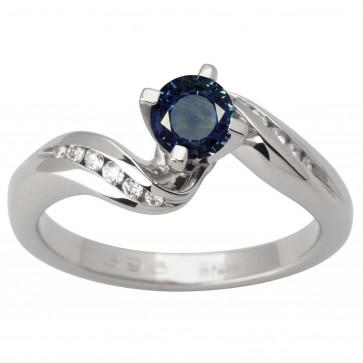 Каблучка з діамантами та кольоровим камінням 981-1618