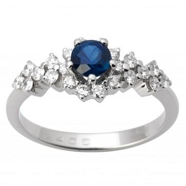 Каблучка з діамантами та кольоровим камінням 981-1646