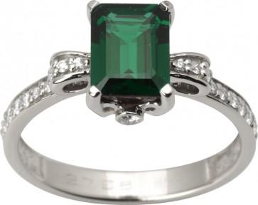 Каблучка з діамантами та кольоровим камінням 981-1650