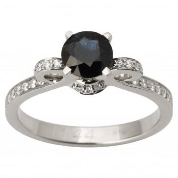 Каблучка з діамантами та кольоровим камінням 981-1741