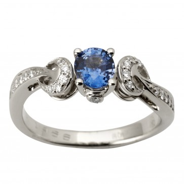Каблучка з діамантами та кольоровим камінням 981-1755