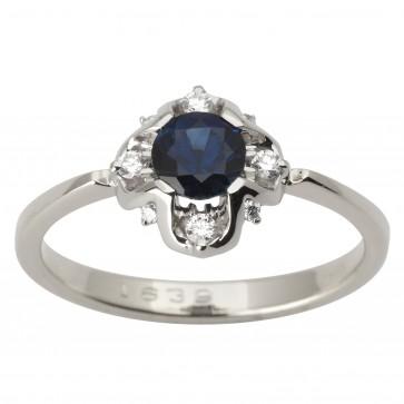 Каблучка з діамантами та кольоровим камінням 981-1761