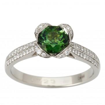 Каблучка з діамантами та кольоровим камінням 981-1780